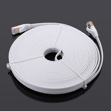 1.5m 3m 10m 15m High Quality High Speed Cat7 SSTP RJ45 Network LAN Cable Internet Flat Network Cable with Plated Connector
