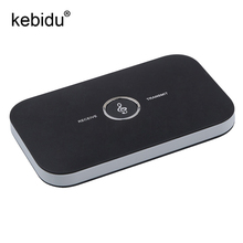kebidu HiFi Wireless Bluetooth Receiver Transmitter with 3.5mm Audio Cable 2 in1 Dual Audio Music Sound Adapter for TV PC(China)