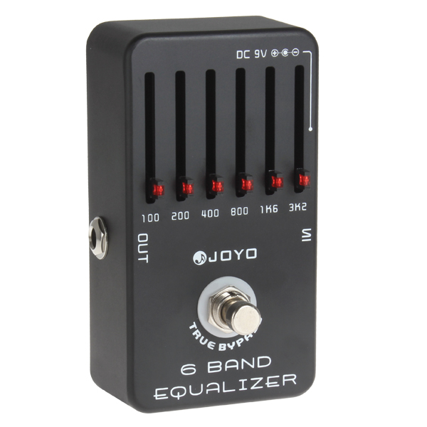JOYO JF-11 Professional True Bypass 6-Bands Guitar Equalizer Effects<br>