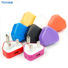 Wholesale Colorful UK Wall Charger 3 pin Power Adapter for iphone 4S 5 6 plus 7 Plus MP3 MP5 Ebook Reader 300pcs/lot Free DHL
