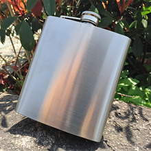 60 pcs/lot Portable 18oz Stainless Steel Hip Flasks Liquor Whisky Alcohol Flask with Screw Cap(China)