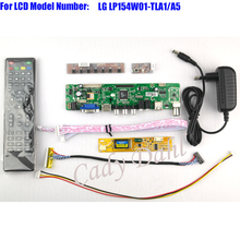 HDMI CVBS RF USB VGA AV TV Controller Board + Inverter + Lvds Cable + Remote for LP154W01 TLA1 A5 1280x800 1ch 6 bit LCD Display