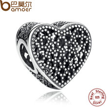 Romance 925 Sterling Silver Charms Fit Bracelets & Bangles Wedding Gift Jewelry PAS267(China)