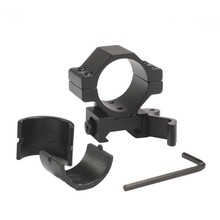 "Tactical Hunting 30mm / 25.4mm 1""  QD Quick Release Scope Mount Ring Adapter 20mm Rail Weaver Picatinny Rifle Scope Laser Mount"