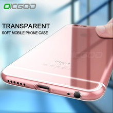 OICGOO Ultra Thin Soft Transparent TPU Case For iPhone 6 6s Plus 5 5s Clear Silicone Case Cover For iPhone 7 7 Plus 6 Phone Case