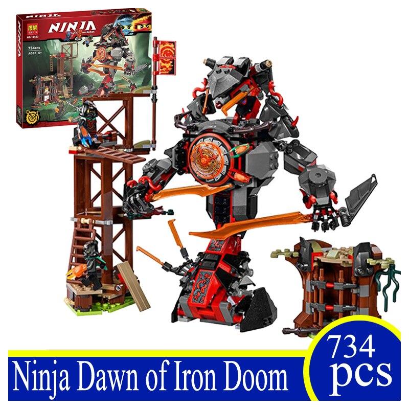 10583 734Pcs Ninja Doom Amanecer De Hierro Modelo Kit De Construccion Bloques Playset Building Bricks Blocks Children Gift 70626<br>