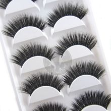 NEW 5 Pairs Luxurious 3D False Eyelashes Cross Natural Long Eye Lashes Beauty Makeup Extension Tools(China)