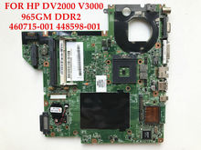 High quality laptop motherboard for HP Pavilion DV2000 Compaq V3000 965GM DDR2 460715-001 448598-001 100% Fully tested