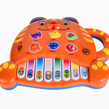 Tiger Piano Keyboard 0-3 years old Music Animal Sound Electronic Harp English Version, Children Educational Toys For Children(China)