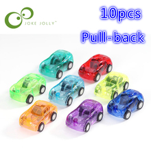 10pcs/lot pull back car Best Gift Candy Color Plastic Cute Toy Cars for Child hot wheels Mini Car Model Kids Toys WYQ