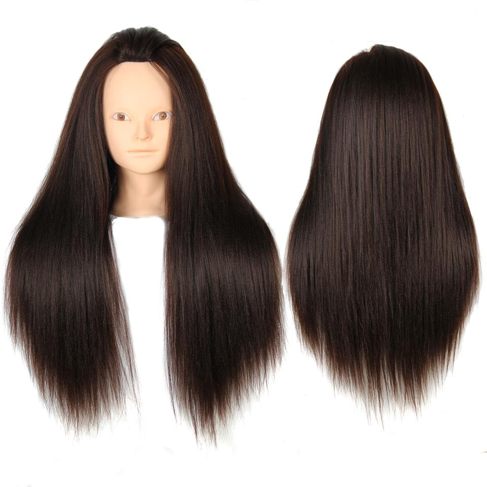 Female manikin Yaki hairdressing training mannequin head Synthetic hair styling Professional styling head realistic Cosmetology<br><br>Aliexpress