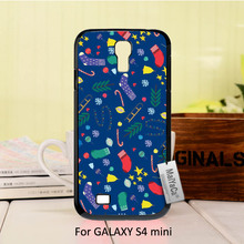 Merry Christmas  socks new year gift Protective PC Mobile phone case For case GALAXY s4 mini
