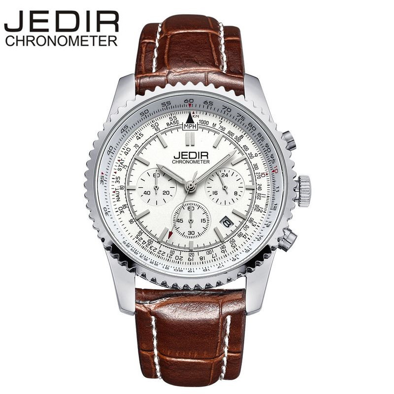 JEDIR Casual Mens Stop Watches Military Sports Quartz Day Watch Brand clock Relogio masculino Gift Box Free Ship<br><br>Aliexpress