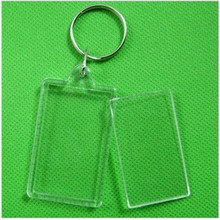 "170pcs Blank Acrylic Rectangle Keychains Insert 2""x 1.25""Photo Keyrings (Key ring chain)(China)"