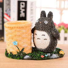 Cartoon Resin TOTORO Pencil Case Figurines Miniatures Home Decor  Accessories Resin Furnishing Christmas Student Stationery Gifts
