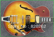 New Arrival Custom 137 Jazz Guitar with Bigbys Honey Burst High Quality Wholesale HOT