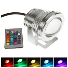IP68 10W 12V Swimming Pool Led Light Underwater RGB 1000LM Waterproof Fountain Light 16 Color Change with Remote Controller