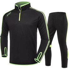 Long Sleeve Soccer Jersey Tracksuit Training Football Jerseys Men Kids Soccer Uniform 2016 2017 Suit Football Tracksuit Set