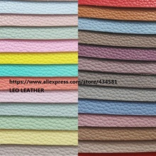 Super Soft Litchi Grain Leather Synthetic Leather Fabric for shoes handbags sofa bows and DIY Accessoires Fabric P1135(China)