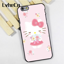 LvheCn phone case cover fit for iPhone 4 4s 5 5s 5c SE 6 6s 7 8 plus X ipod touch 4 5 6 lovely Hello Kitty Pretty(China)