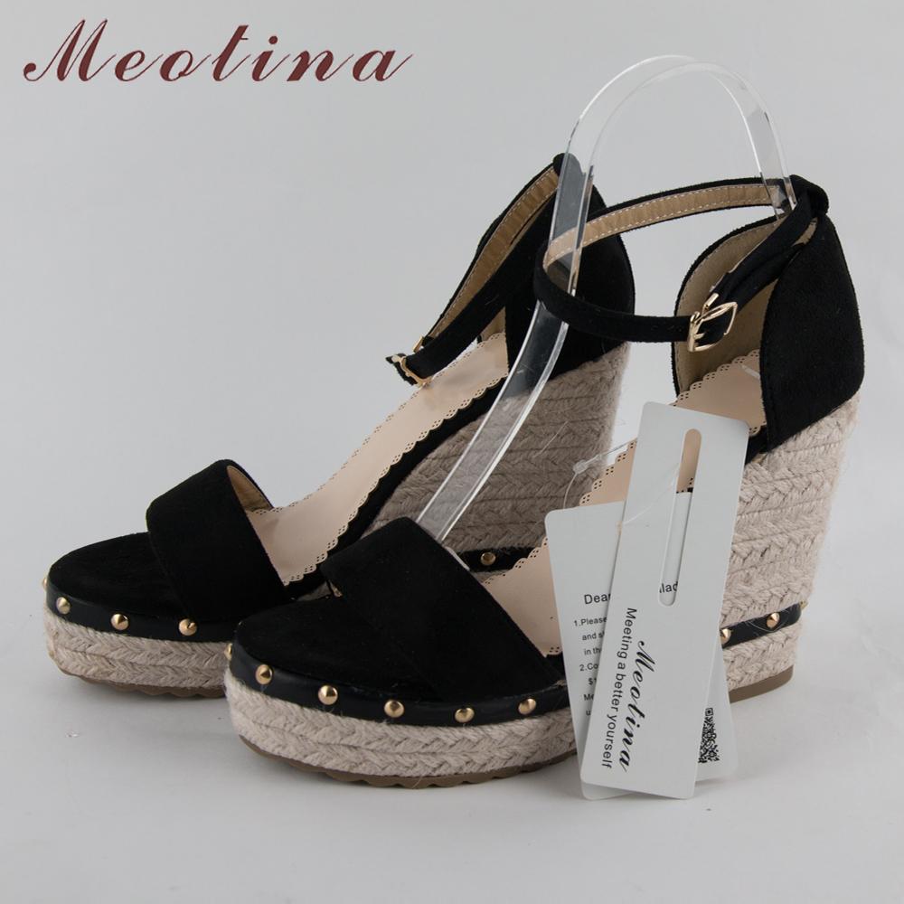 Women's Sandals, Platform Sandals, High Heels Shoes, Ankle Strap, Ladies Sandals Rivet Casual Footwear 20