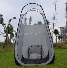 Promotion!Sunless Silver grey color pop up Spray Tanning tent with PVC roof/top quality popular in European & American market