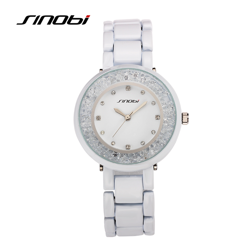 2016 Fashion SINOBI Brand Watch Women Watches Luxury Rhinestone Diamond Watch Full Steel Quartz-Watch Lady Hour relogio feminino<br><br>Aliexpress