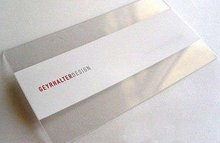 transparent business cards clear PVC Plastic VIP card CR80 30mil 0.76mm print printing