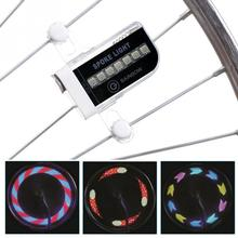 Bright Gofuly 14 LED Motorcycle MTB Cycling Bicycle Bike Wheel Signal Tire Light 30 Changes Bike Accessories(China)
