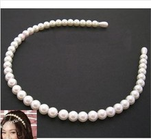 T031 Wholesale Christmas Gifts High Quality Imitation Pearl Barrette Hairbands For Women Jewelry Accessories Head Bijoux