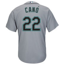 MLB Men's Seattle Mariners Robinson Cano Baseball Gray Road Cool Base Player Jersey(China)
