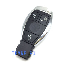 3 Buttons Replacement Car Smart Remote Control Key Mercedes Benz keyless entry key fob case logo