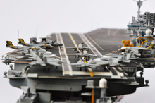 Academy 1/800 Scale 14210 U.S.S. CV-63 Kitty Hawk Aircraft Carrier Plastic Model Kit Assembled model Free Shipping
