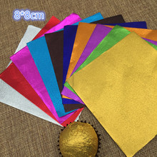 "8*8cm 1000Pcs/Lot 3.14""x3.14"" Fine Grain Silver Paper For Chocolates Sweetmeats Sweet Package Paper Multi Colored Foil Wrapper(China)"
