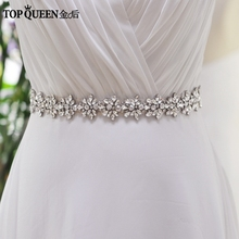 TOPQUEEN FREE SHIPPING S269 Rhinestones Crystals Wedding Belts Wedding sashes,Rhinestones Crystals Bridal Belts Bridal Sashes.(China)
