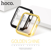 ORIGINAL HOCO PC protective Case for Apple Watch iWatch series 2 & 3 38mm 42mm Luxury plating cover shell perfect match 4 colors(China)