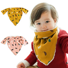New Fashion Design Baby Boys Girls Warm Printing Kid Toddler Bandana Baby Bibs Saliva Towel For 0-3 Ages(China)