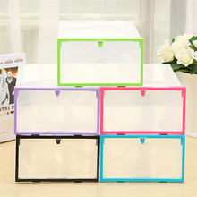 Multi-function Clear Foldable Strong Plastic Shoes Box Storage Box Organizer Drawers Stackable Organizer