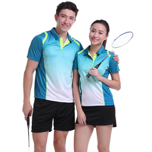 New Badminton sets Breathable Tennis Jerseys Men's , table tennis wears , Badminton clothes , sports POLO Quick Dry Shirts 1010(China)