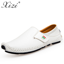 Buy XIZI Men Casual Flat shoes Male Loafers Spring Summer Handmade Genuine Leather Boat Men oxford Flats Driving Creepers men Shoes for $22.42 in AliExpress store