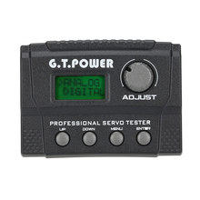 G.T.POWER Professional Servo Tester for RC Aircraft Helicopter Car Servo(China)