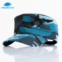 Pineapplefish 2017 Army Flat Top CAPS camouflage Classic Service Snapback hats Women Men style Patrol Casquette flat hats(China)