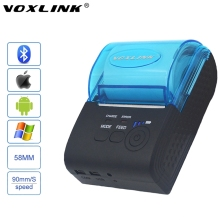 VOXLINK RS232/USB Ports 58mm Mini Wireless Bluetooth Thermal Receipt Printer Support ESC/P0S For IOS/Android Mobile Printer(China)