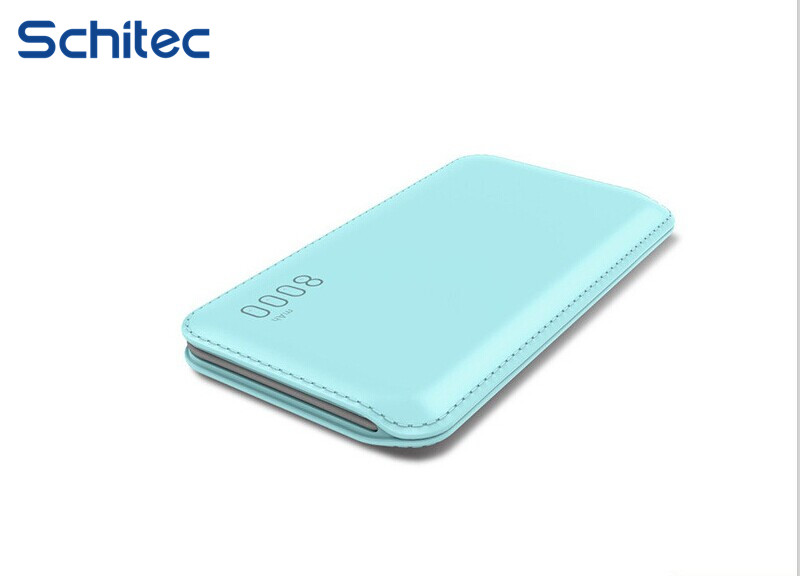 8000mAh fast charging Mobile power supply line, ultra-thin mobile power bank, external card mobile power, creative gifts