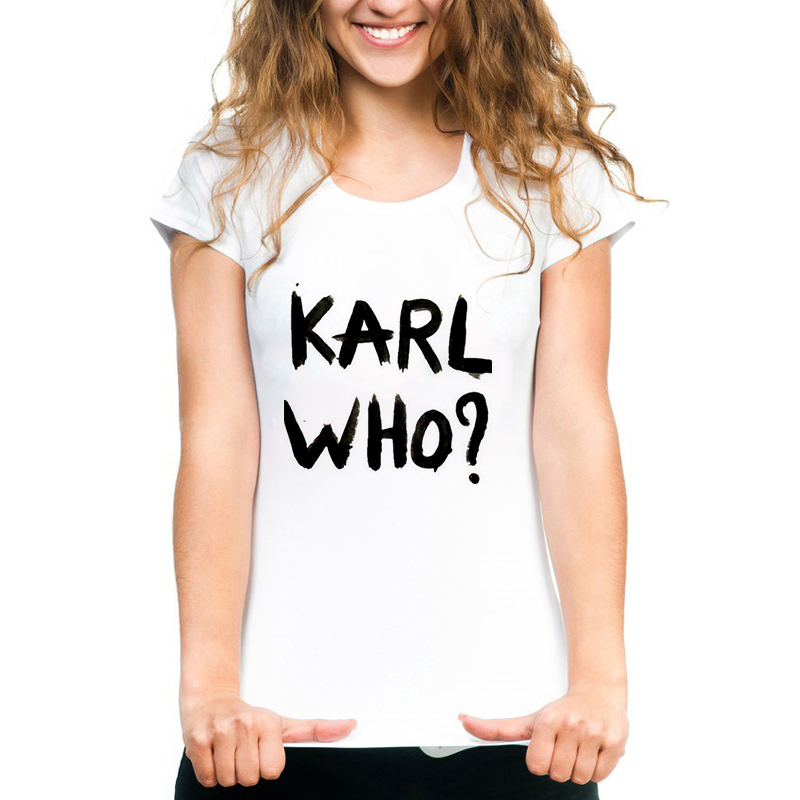 2019 New Arrivel Women/men Harajuku Summer T-shirt Karl Lagerfeld T Shirt Karl Costume designer Print Summer Short Sleeve Tshirt