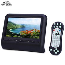 Universal Car Headrest DVD Player with HDMI 9 Inch 800 x 480 LCD Screen Backseat Monitor Built-in USB SD IR FM Speaker MHL