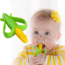 2016 New Silicone Toothbrush High Quality And Environmentally Safe Baby Teether Teething Ring zl002(China)