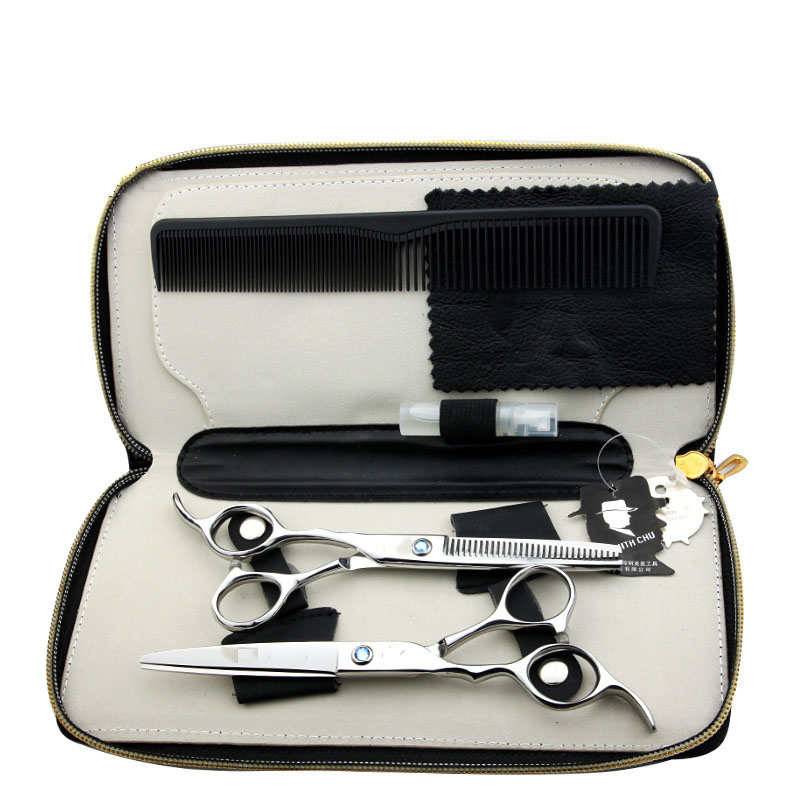 Professional Hairdressing Scissors Set 62HRC Straight &amp; Thinning Cutting With Comb Barber Hairdressing Scissors Styling Tools<br>