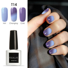 FOCALLURE Nail Gel Polish Temperature Change Nail Color UV Gel Polish Chameleon Nail Gel Varnish Gelpolish