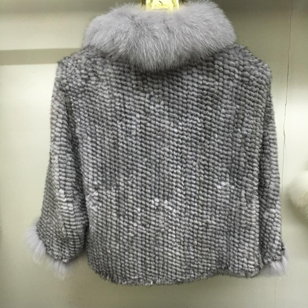 Luxury Mink Fur Shawl For Women Poncho Cape Knitted Genuine Fur Jacket Coat Female Winter Wraps Outerwear (5)